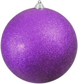 Kerstbal 20cm, paars, glitter