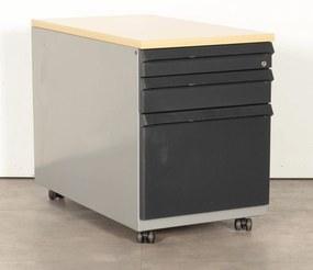 Verrijdbaar ladeblok , 3 laden, (met hangmaplade) aluminium, geschikt voor A4