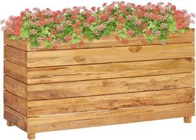 Plantenbak verhoogd 100x40x55 cm gerecycled teakhout en staal