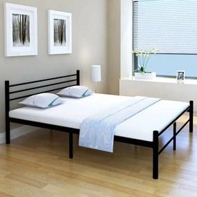 Medina Bed met traagschuim matras metaal zwart 160x200 cm
