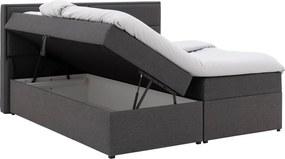 Goossens Basic Boxspring Goria Storage Box, Vlak 180 x 200 cm (=2x 90 x 200 cm) met hoofdbord zonder voetbord incl. topper luxafoam 4 cm dik