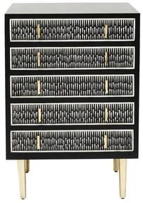 Kare Design Piano Intarsia Ladekast - 60x48x85cm.
