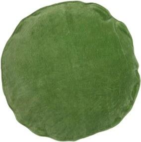Kussen groen, velvet Fern, rond Met binnenkussen 45 x 45 cm