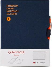 Caran d'Ache 849 Metal X balpen en notitieboek in giftset
