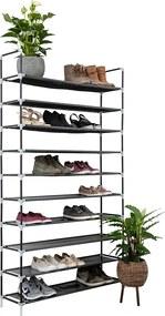 Schoenenrek voor 50 paar - Zwart - 10 etages