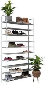 Schoenenrek voor 50 paar - Grijs - 10 etages