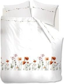 Marjolein Bastin   Dekbedovertrekset Korenroos lits-jumeaux xl: breedte 260 cm x lengte 200/220 cm rood, wit dekbedovertrekken   NADUVI outlet