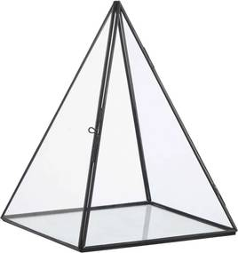 Terrarium Pyramide Zwart Helder