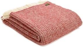 Plaid wol: rood, illusion