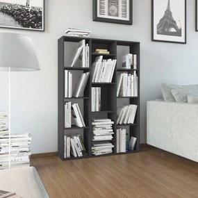 Kamerscherm/boekenkast 100x24x140 cm spaanplaat grijs