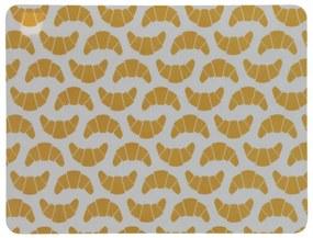 Placemat - 32 X 42 - Kunststof - Geel Croissants (geel)