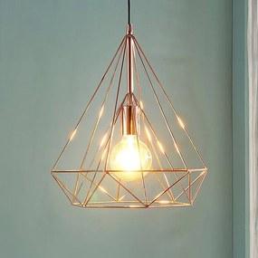 Kooivormige hanglamp in koperkleur Jossa - lampen-24