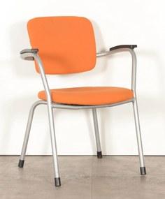 Vergaderstoel 4230, oranje, 4-poot onderstel