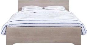 Bed Tempo - grijs eikenkleur - 160x200 cm - Leen Bakker