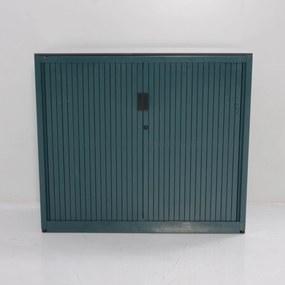 Roldeurkast, groen, 105 x 120 cm, incl. 2 legborden *ster 2*