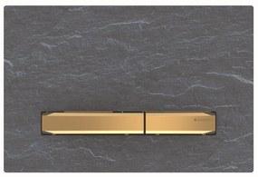 Bedieningsplaat Geberit Sigma 50 voor 2-toets Spoeling Messing Goud / Mustang Leisteen