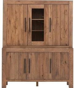 Goossens Buffetkast Roots, 1 glasdeur 5 dichte deuren