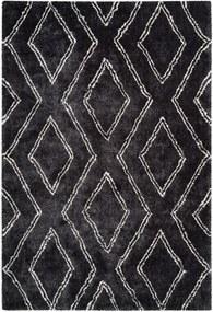 More99 | Vloerkleed Hermes 200 x 290 cm, poolhoogte 27 mm antraciet vloerkleden 100% polyester / onderzijde: 100% vloerkleden | NADUVI outlet