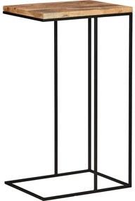 Goossens Bijzettafel Jill, hout eiken blank, elegant chic, 30 x 70 x 40 cm