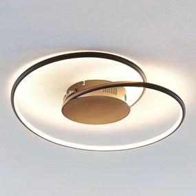 Joline LED plafondlamp, zwart, 45 cm - lampen-24