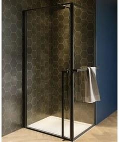 Riho Lucid GD201 Douchecabine 100x100x200cm Vierkant helder glas mat zwart GD210B100