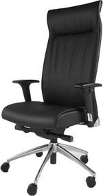 Bureaustoel Henk - Zwart Leder