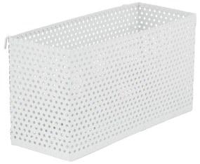 Opbergbakje voor wandrek - wit - 20x8 cm