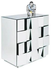 Kare Design Illusion Design Ladekast Spiegel 4D - 74x44x79cm.