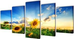 Canvasdoeken zonnebloem 200 x 100 cm