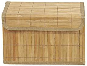 Opbergmand bamboe latjes - 22x33x20.5 cm