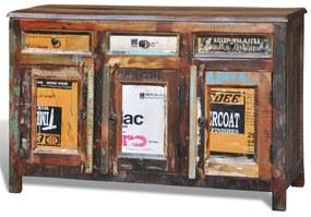 Medina Kast met 3 lades en 3 deuren vintage stijl gerecycled hout