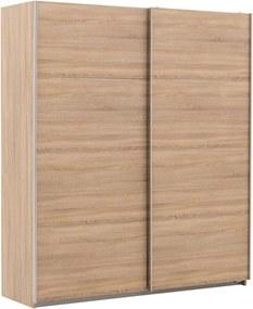 Goossens Basic Kledingkast Miami, 180 cm breed, 210 cm hoog, 2x schuifdeuren