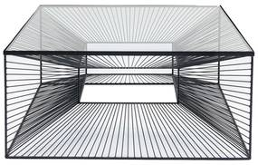 Kare Design Dimension Vierkante Salontafel Staaldraad - 80 X 80cm.