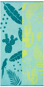 Kaat Amsterdam strandlaken Lemon drop - blauw/geel - 100x180 cm - Leen Bakker