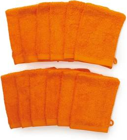 The One Towelling 12-PACK: Washandjes - 16 x 21 cm - Oranje