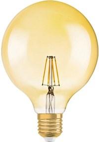 Osram Vintage 1906 LED E27 Globe 7.5W 824 Goud   Dimbaar - Vervangt 50W