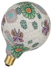 Bailey Designs Paint Globe G125 E27 7W 2700K Bloem Wit 280lm Dimbaar 230V-240V 360D 125x175mm LED-lamp 143045