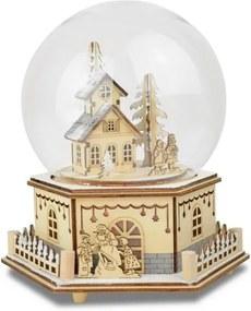 Led-speeldoosje in glazen stolp, »Huis met kinderen«