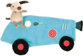 Knuffeldoekje raceauto met hond - Knuffels