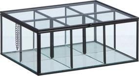 Theedoos Glas Zwart