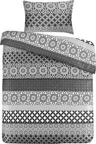 Morning Lifestyle | Dekbedovertrekset Stereo medium: lengte 240 cm x breedte 200 cm zwart, wit dekbedovertreksets katoen, | NADUVI outlet