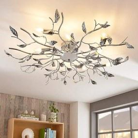 Glanzende plafondlamp Yos in chroom