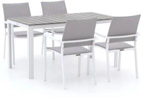 Bernstein Cologne/Bravo 145cm dining tuinset 5-delig stapelbaar - Laagste prijsgarantie!