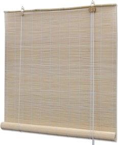 Rolgordijn Bamboe 80 x 160 cm (Naturel)