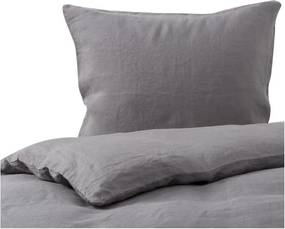 Dekbedovertrek donkergrijs, linnen Maxime Lits-jumeaux (240-200 cm)