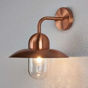 Mooie koperen wandlamp voor buiten Camila