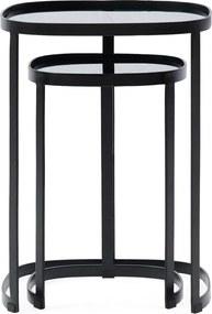 Rivièra Maison - Craig Side Table Set of 2, black - Kleur: zwart