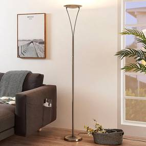 Eenvoudige LED uplighter Mauricio, mat nikkel - lampen-24