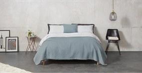 Carlos bedsprei van 100% gestonewasht katoen, 225 x 220, leisteenblauw
