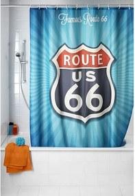 Douchegordijn Wenko Polyester Vintage Route 66 Multi 180x200cm Easy Clean